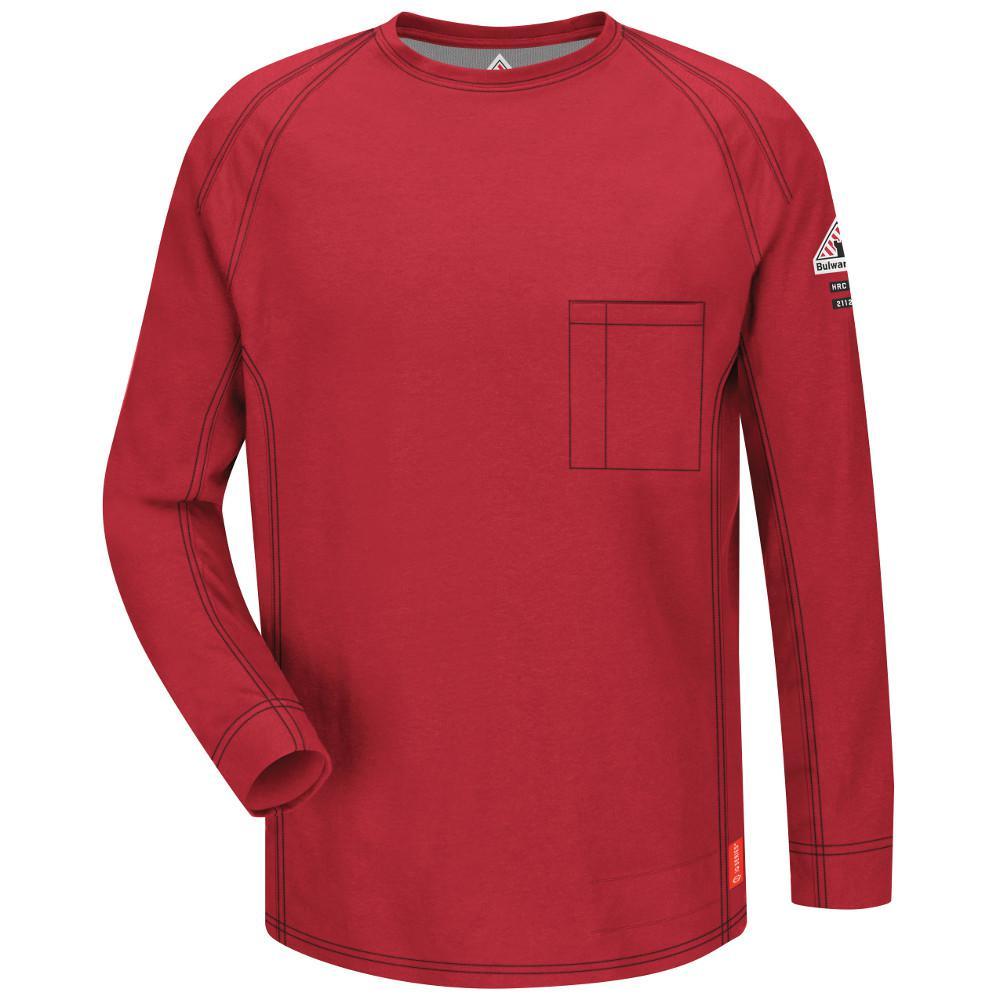 184c7cca5a4 Bulwark IQ Men s Medium Red Long Sleeve Tee-QT32RD RG M - The Home Depot
