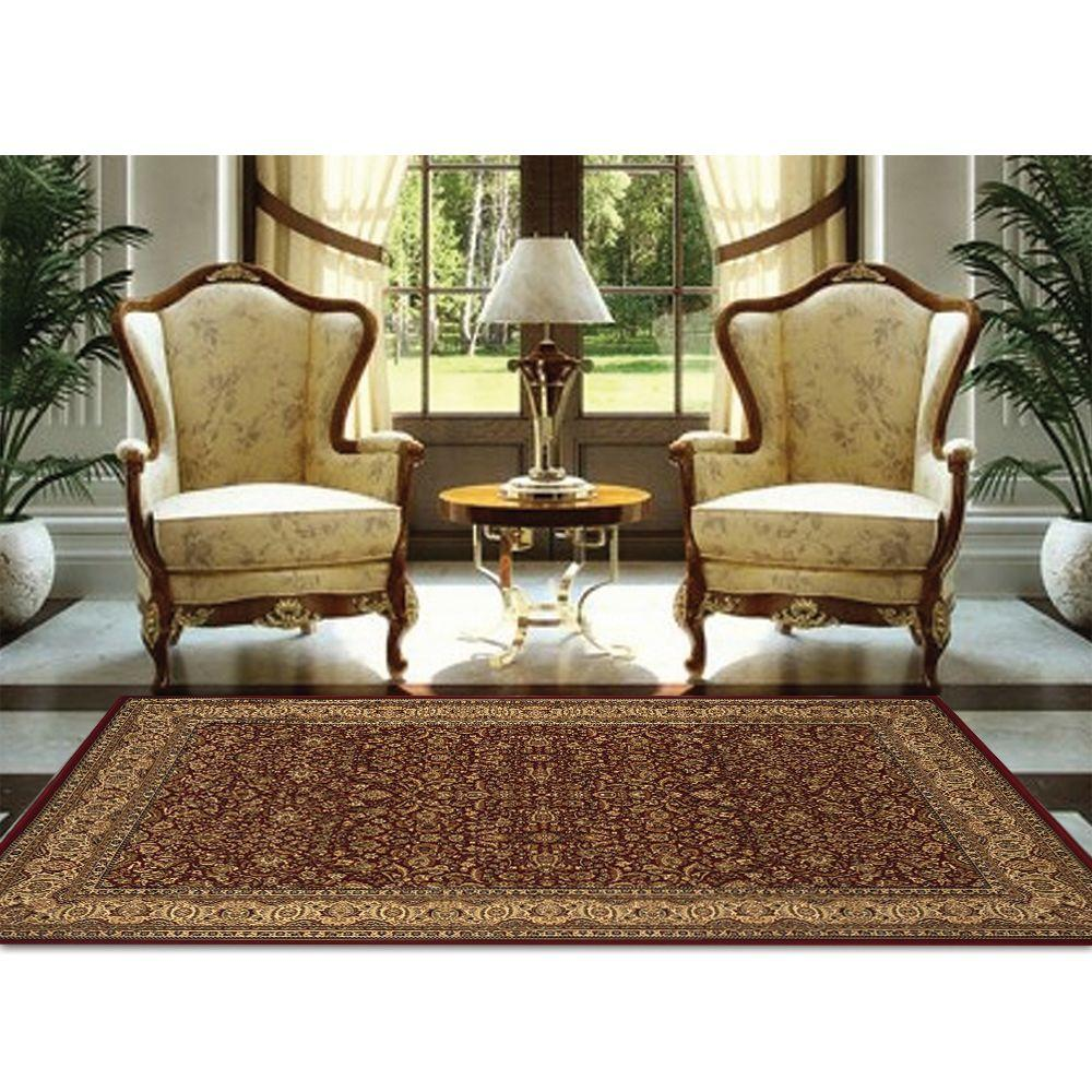 Home Dynamix Super Kashan SK8302 Red 1 ft. 11 in. x 3 ft. 7 in. Indoor Accent Rug