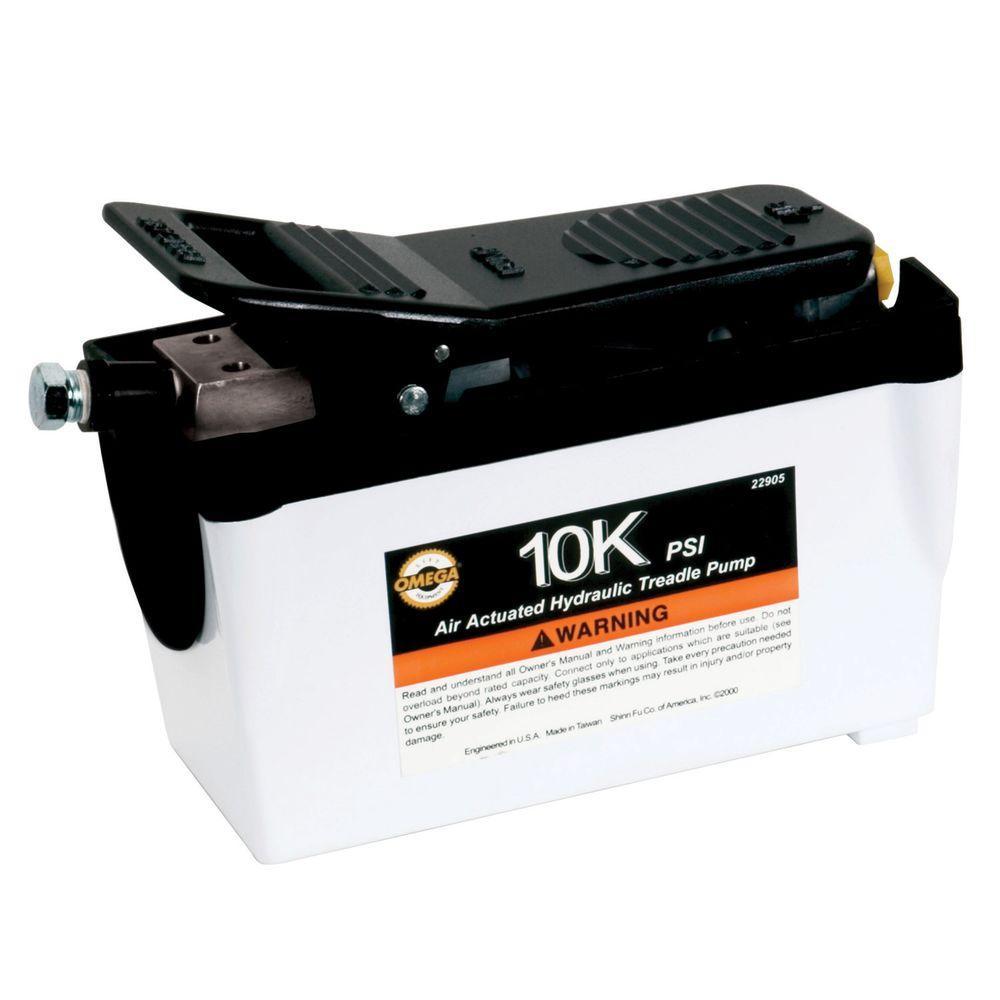 10,000 PSI 231 cu. in. Air Actuated Hydraulic Treadle Pump