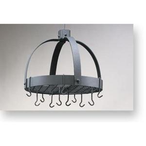 Old Dutch Old Dutch 20 inch x 15.25 inch x 21 inch Dome Graphite Pot Rack with Grid and 16 Hooks by Old Dutch