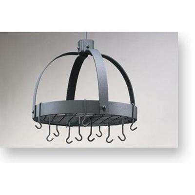 Old Dutch 20 in. x 15.25 in. x 21 in. Dome Graphite Pot Rack with Grid and 16 Hooks