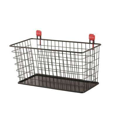 Large Black Shed Wire Basket