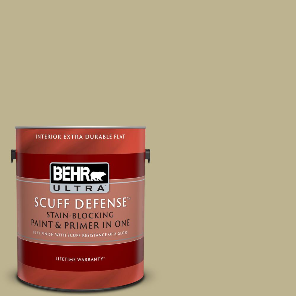 Behr Ultra 1 Gal Ppu9 10 Wasabi Powder Extra Durable Flat Interior Paint And Primer In One 172401 The Home Depot