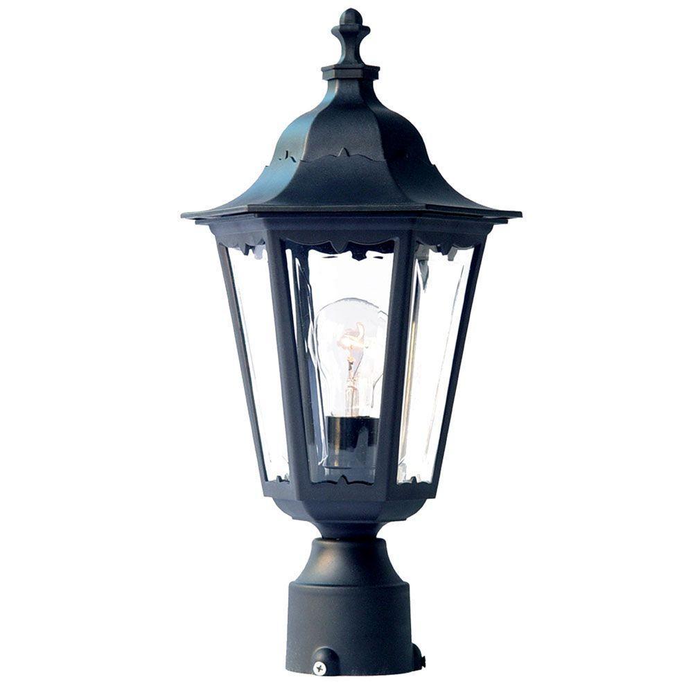 Acclaim Lighting Tidewater 1-Light Matte Black Outdoor Post-Mount Light Fixture