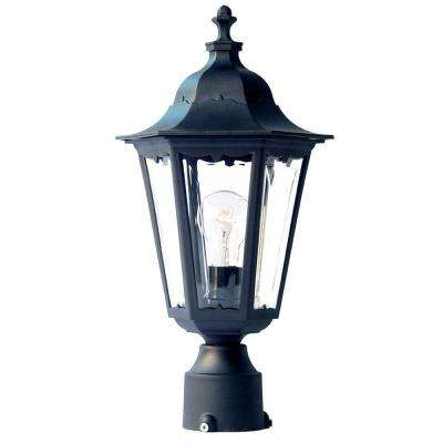 Tidewater 1-Light Matte Black Outdoor Post-Mount Light Fixture