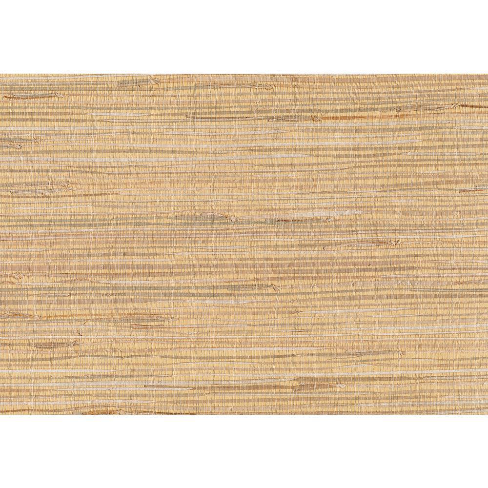 Kenneth James 72 sq. ft. Makoto Peach Grasscloth Wallpaper 53-65617