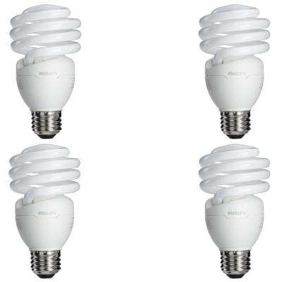 75-Watt Equivalent T2 Spiral CFL Light Bulb Soft White (4-Pack) (E*)