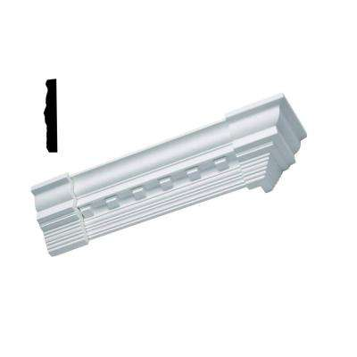 1/4 in. x 5 in. x 3-1/2 in. Primed Polyurethane Colonial Dentil Crown Outside Corner Moulding