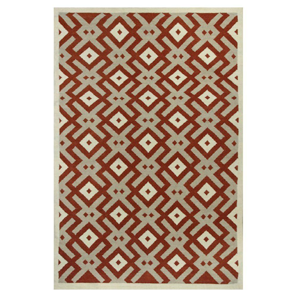 Kas Rugs Design Dream Orange/Beige 3 ft. 3 in. x 5 ft. 3 in. Area Rug