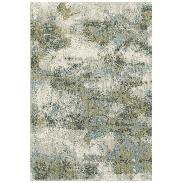 Everette Blue Green 8 Ft X 10 Ft Abstract Area Rug 040921 The Home Depot
