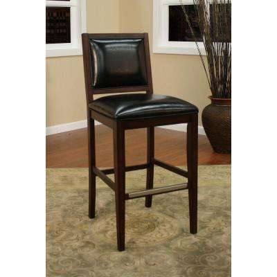 Bryant 30 in. Espresso Cushioned Bar Stool (Set of 2)