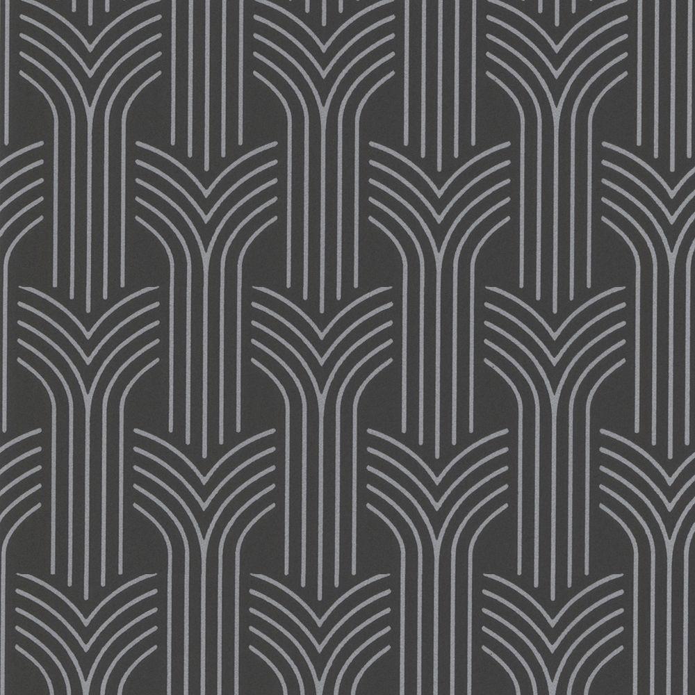 Graham & Brown 56 sq. ft. Cinema Gray Wallpaper