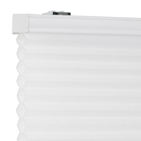 White ACHIM Honeycomb Cordless Polyester Pleated Cellular Shade