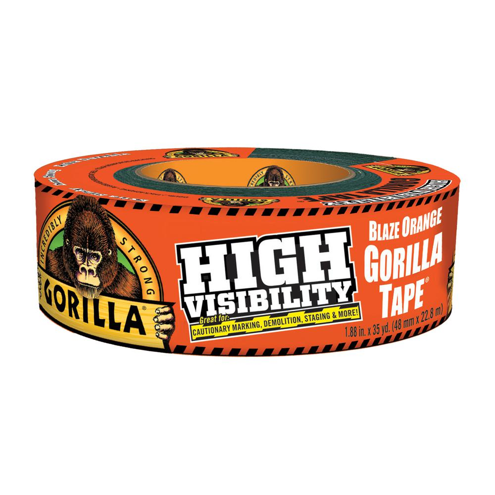 Gorilla 35 yds. High Visibility Tape Blaze in Orange (6-Pack)