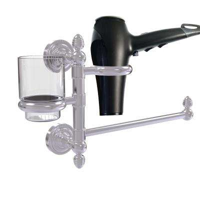 Dottingham Collection Hair Dryer Holder and Organizer in Brushed Bronze