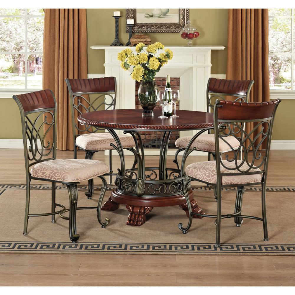 Acme furniture omari bronze metal dining chair set of 2