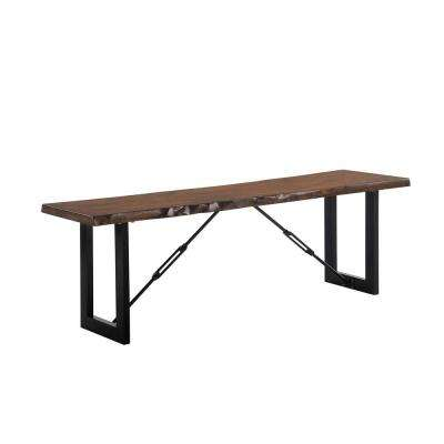Jackson Walnut Wood Bench