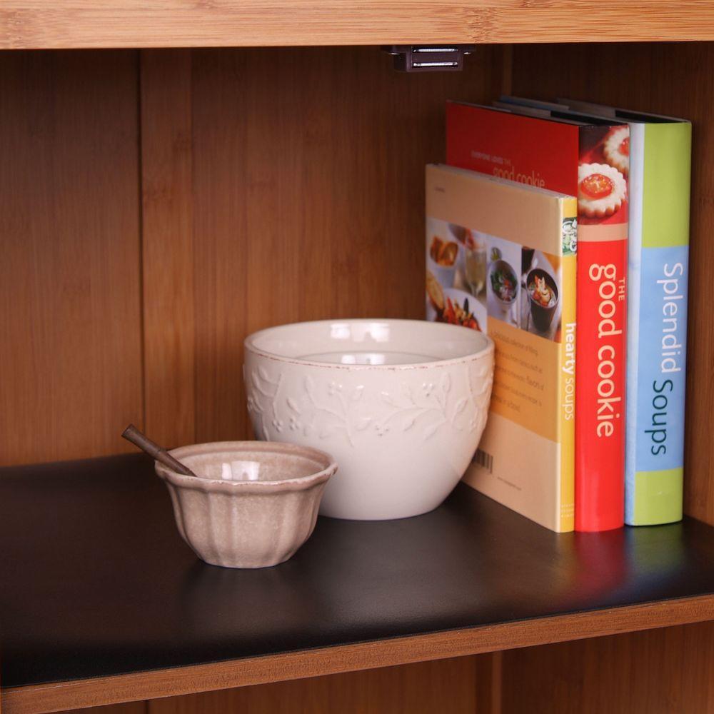 Con Tact Grip Black Shelf Drawer Liner, Kitchen Cabinet Shelf Liner Home Depot