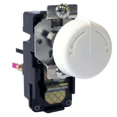 3.8 in. x 2 in. x 2.4 in. Double Pole Retrofit Built-In Thermostat Kit for Wall Heaters in White