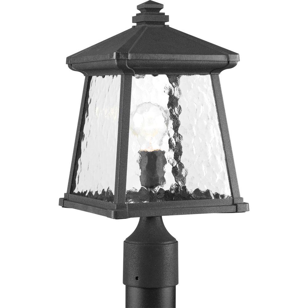Mac Collection 1-Light Black Outdoor Post Lantern