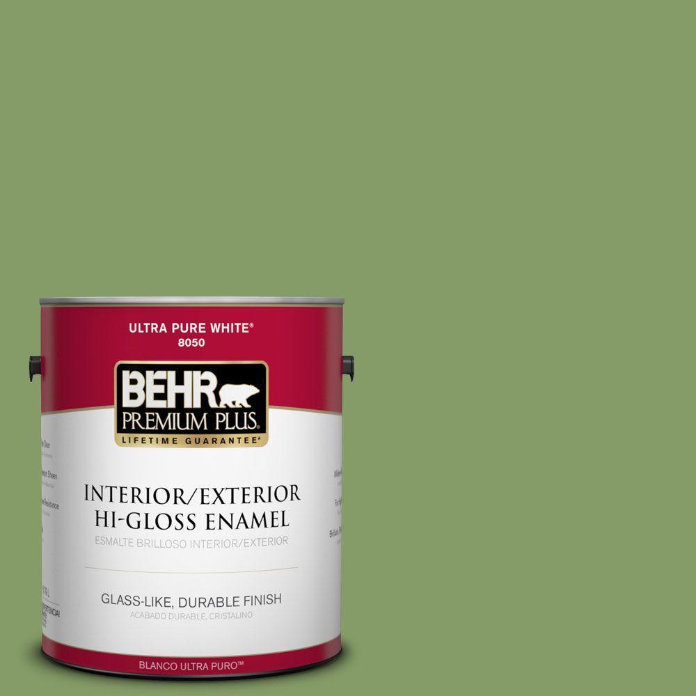 1 gal. #M370-5 Agave Plant Hi-Gloss Enamel Interior/Exterior Paint