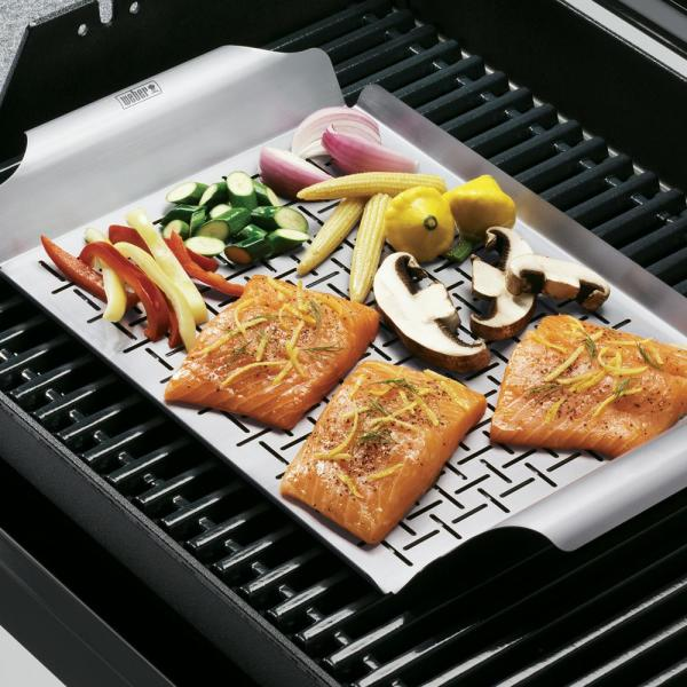 Weber #6435 grille en acier inoxydable Pan