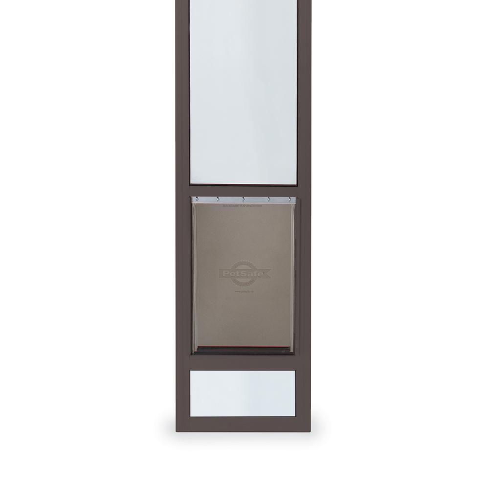 PetSafe 10-1/4 in. x 16-3/8 in. Large Tall Bronze Freedom Patio Panel (76 in. to 81 in.) Pet Door