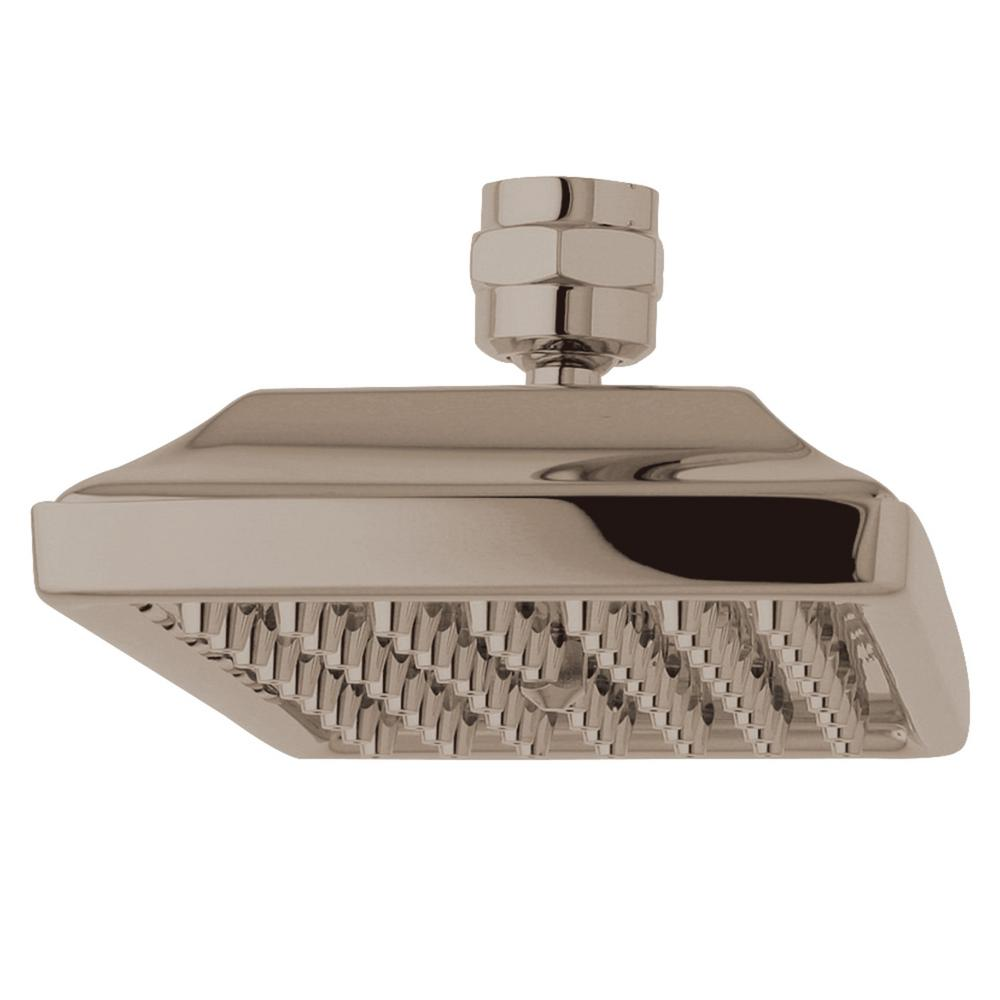 Kingston Brass Claremont 1-Spray 6 in. Showerhead in Brushed Nickel
