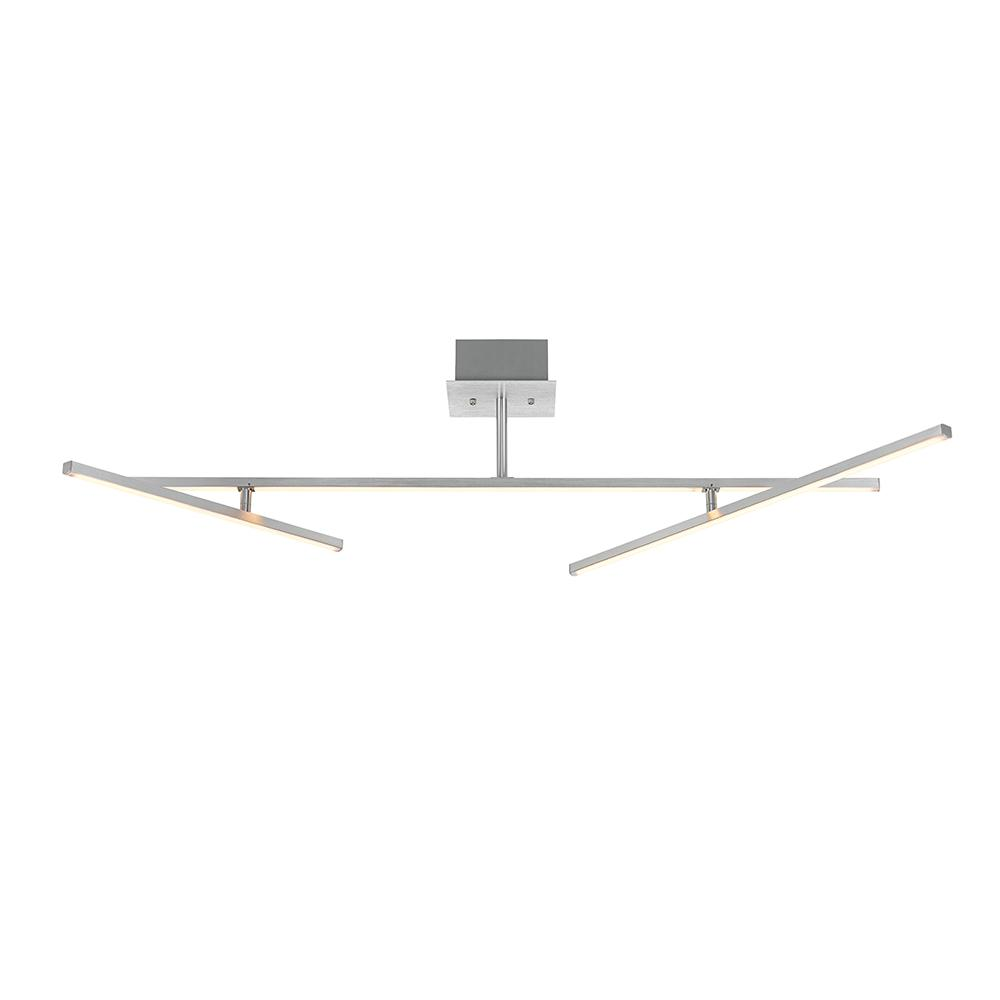 Alsy Alsy 3 ft. 3-Light Aluminum with Chrome Accents Integrated LED Track Lighting Kit