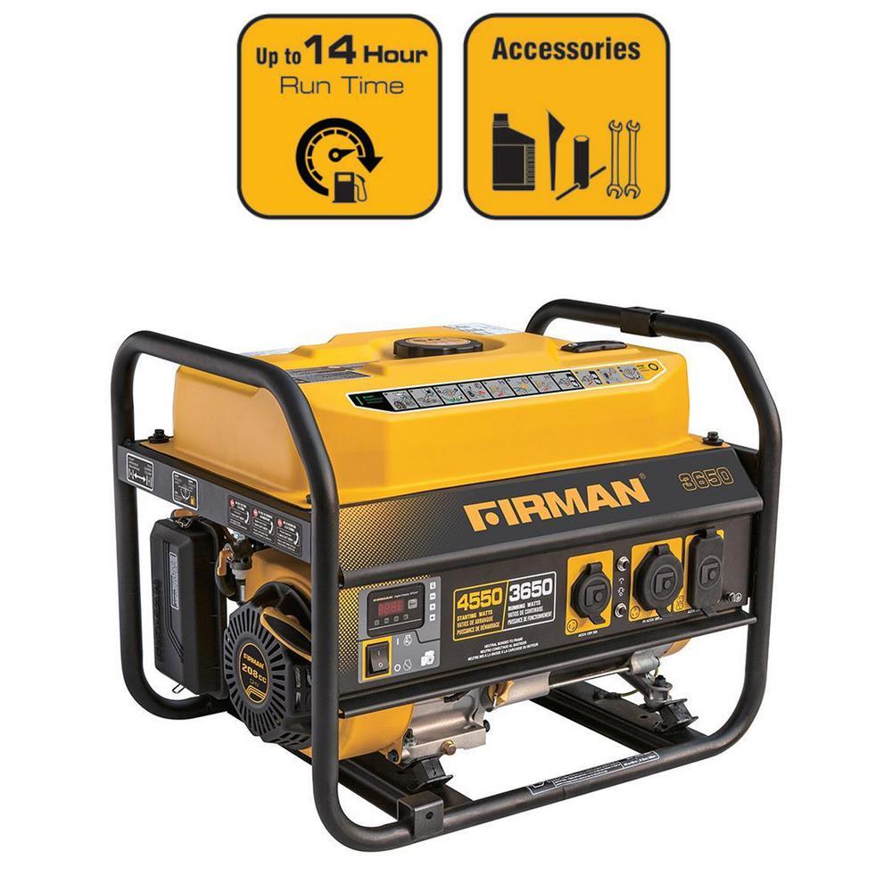 4550/3650-Watt Recoil Start Gas Portable Generator CARB Certified