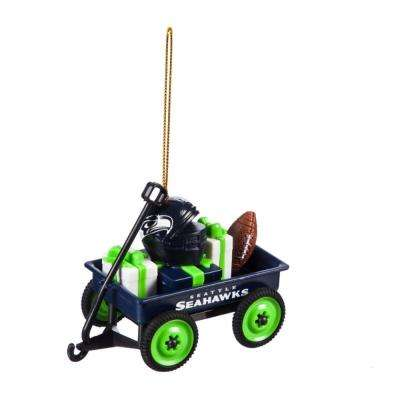 Seattle Seahawks 1-3/4 in. NFL Team Wagon Christmas Ornament