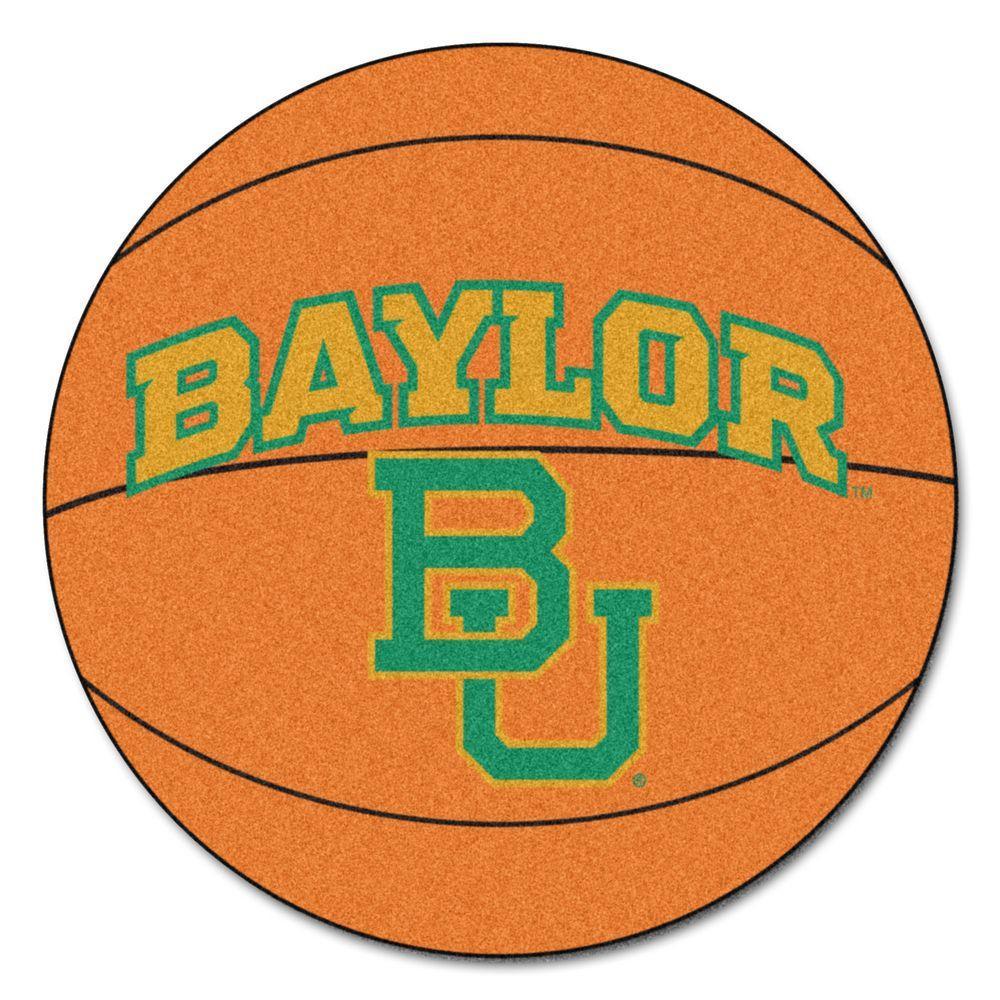 FANMATS NCAA Baylor University Orange 2 ft. x 2 ft. Round Area Rug