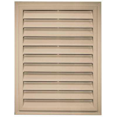 18 in. x 24 in. Rectangle Gable Vent in Tan