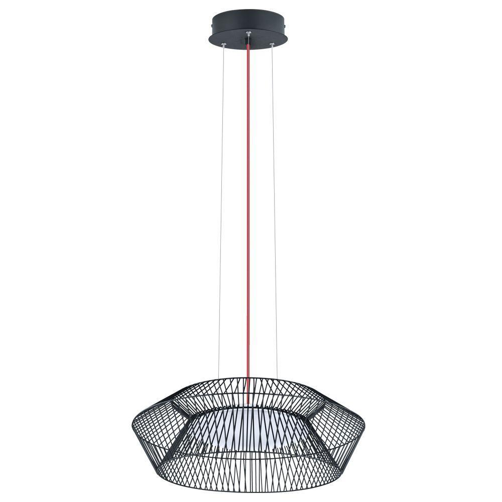 Piastre 100-Watt Black Integrated LED Pendant