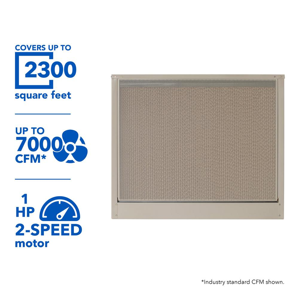 7000 CFM 115-Volt 2-Speed Down-Draft Roof 8 in. Media Evaporative Cooler
