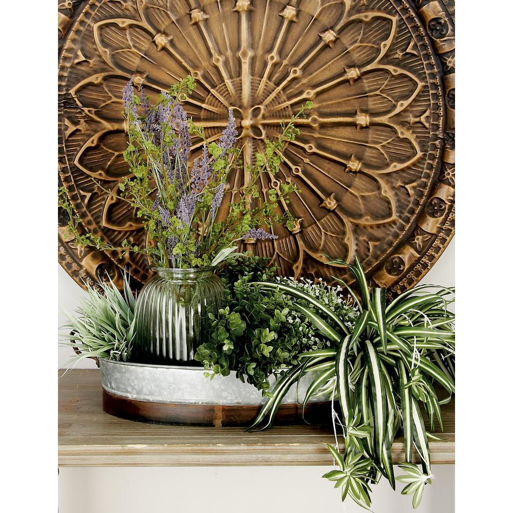Farmhouse Rustic Gray Decorative Planter Trays (Set of 2)