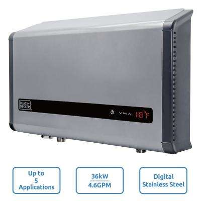 36 kW Self-Modulating 6.1 GPM Electric Tankless Water Heater, Multi-Application Hot Water Heater Electric