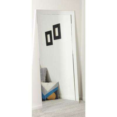 32 in. x 65.5 in. Polished Chrome Floor Mirror
