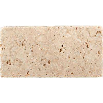 Trav Vino Tumbled Cream 2.99 in. x 5.94 in. Travertine Wall Tile