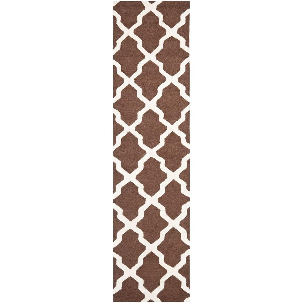Cambridge Dark Brown/Ivory 2 ft. 6 in. x 10 ft. Runner