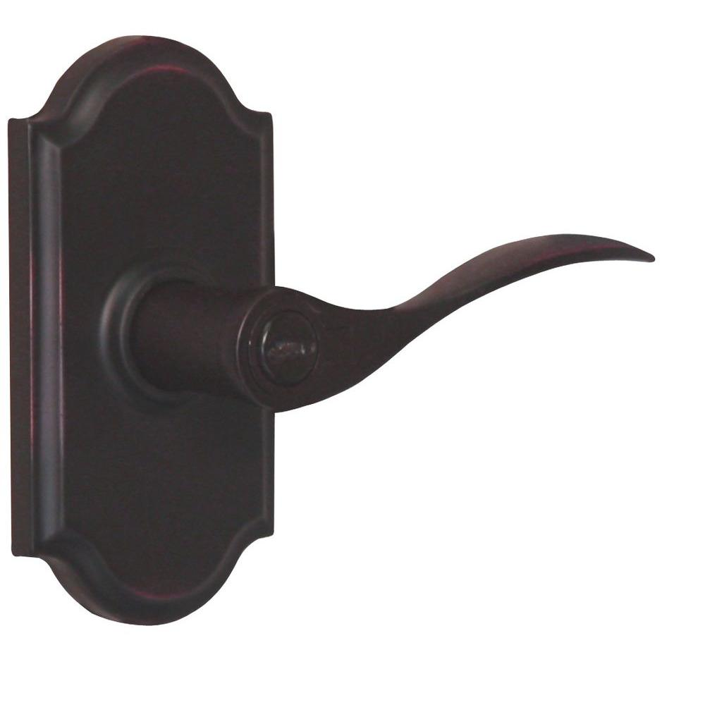 Weslock Elegance Oil-Rubbed Bronze Right-Hand Premiere Keyed Entry Bordeau Lever