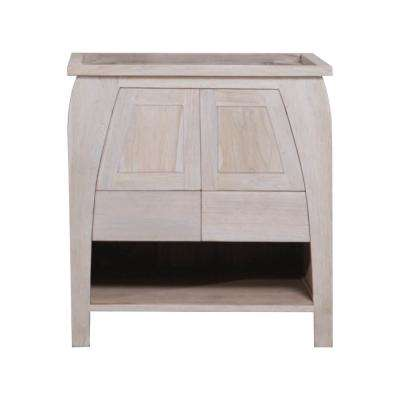 Tranquility 30 in. W Teak Vanity Bath Cabinet Only in Driftwood