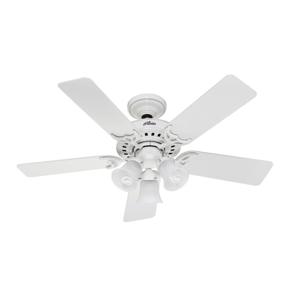 Hunter Stonington 46 in. White Ceiling Fan-DISCONTINUED