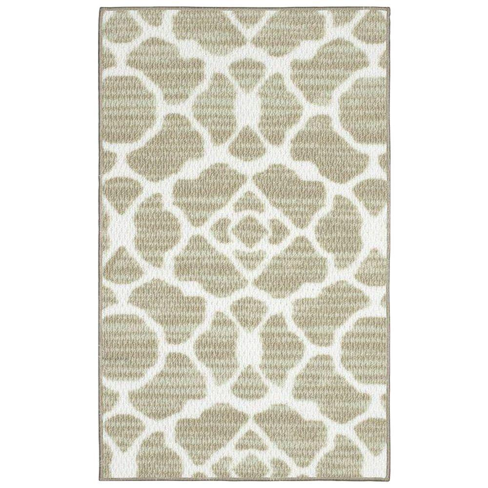 Structures Kohl Beige 2 ft. x 3 ft. Area Rug Redecorate any room with the Structures 2 ft. x 3 ft. Area Rug. This rug is designed with a classic style for a traditional appearance. It features a stain-resistant design and fade-resistant materials. With a novelty pattern, this rectangular rug will delight your friends. This area rug also makes a charming present to delight your family and friends. It is designed with elements of beige, boosting the color scheme of your space. It has a 100% olefin construction, making it a durable option with remarkable longevity.