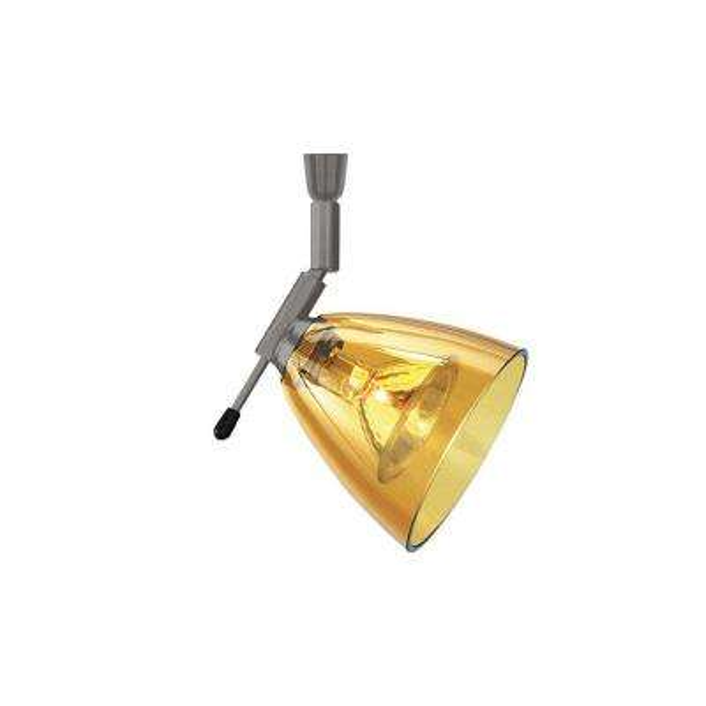 Mini-Dome I Swivel I 1-Light Bronze Amber LED Track Lighting Head