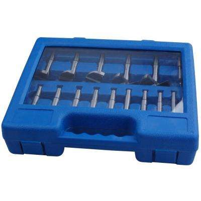 1/4 in. 2-1/8 in. Forstner Bit Set (16-Piece)