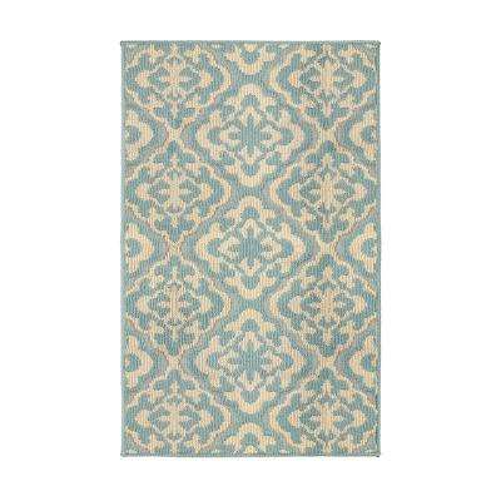 Elizabeth Mineral Blue/Berber 2 ft. x 4 ft. Loop Area Rug