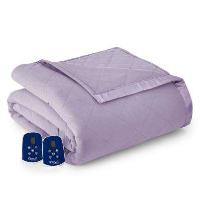 King/Cal King Amethyst Electric Heated Comforter/Blanket