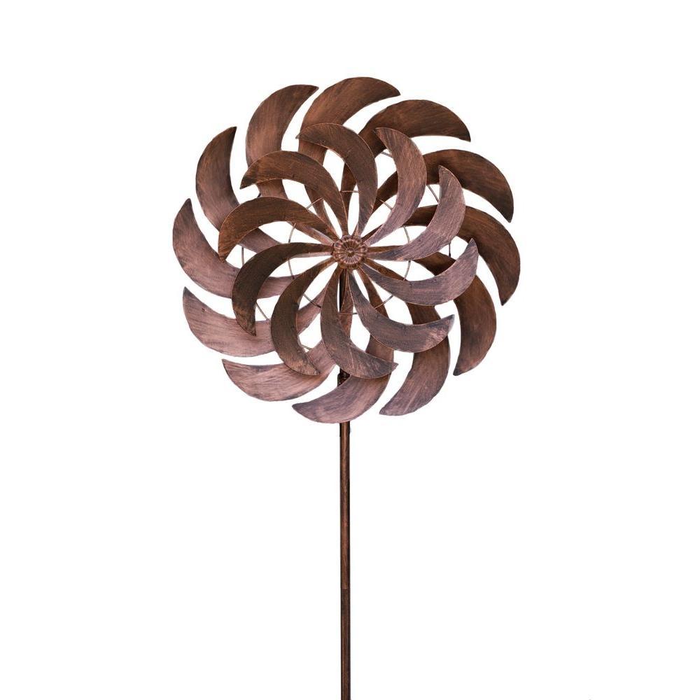 Windjammer 24 in. x 84 in. Steel Kinetic Decorative Wind Art Spinner