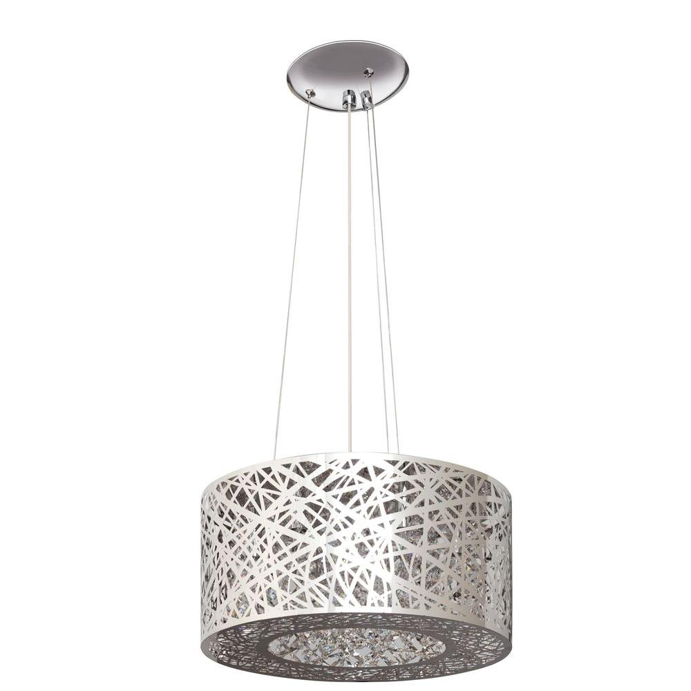 Artika 7 Light Nested Chrome Laser Cut Shade Chandelier